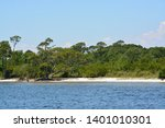 the coast of gulf breeze in... | Shutterstock . vector #1401010301