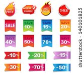 big sale colorful labels set | Shutterstock . vector #140101825