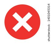 wrong mark vector icon. reject... | Shutterstock .eps vector #1401045314