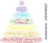 gen z word cloud on a white... | Shutterstock .eps vector #1401048167