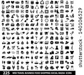 set of 225 quality icon social... | Shutterstock .eps vector #140106529