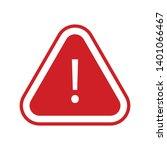 red alert sign vector icon ... | Shutterstock .eps vector #1401066467