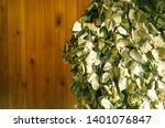 birch brooms hang against the... | Shutterstock . vector #1401076847