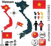 vector of vietnam set with... | Shutterstock .eps vector #140108485