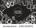 pear design template. hand... | Shutterstock .eps vector #1401103541