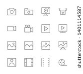 simple set of camera related... | Shutterstock .eps vector #1401114587