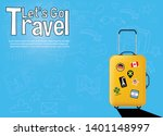 it s time to travel.trip to... | Shutterstock .eps vector #1401148997