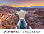Hoover Dam On The Colorado...