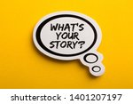 what is your story speech... | Shutterstock . vector #1401207197