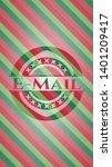 email christmas emblem. vector...   Shutterstock .eps vector #1401209417