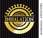 inhalation shiny badge. vector... | Shutterstock .eps vector #1401213581