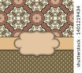 vintage vector abstract flower... | Shutterstock .eps vector #1401219434