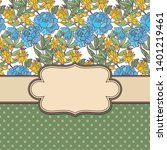 vintage vector abstract flower... | Shutterstock .eps vector #1401219461