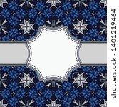 vintage vector abstract flower... | Shutterstock .eps vector #1401219464