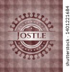 jostle red geometric badge.... | Shutterstock .eps vector #1401221684