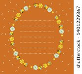 oval frame with honeycombs ... | Shutterstock .eps vector #1401229367