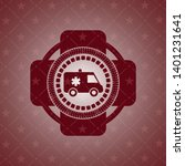 ambulance icon inside badge... | Shutterstock .eps vector #1401231641