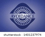 avoidance badge with denim... | Shutterstock .eps vector #1401237974