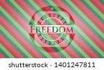 freedom christmas emblem....   Shutterstock .eps vector #1401247811