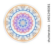 round decoration frame and... | Shutterstock .eps vector #1401248381