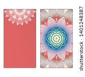creative invitation card... | Shutterstock .eps vector #1401248387