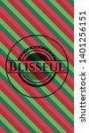 blissful christmas style badge. ...   Shutterstock .eps vector #1401256151