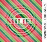 milieu christmas emblem. vector ...   Shutterstock .eps vector #1401256271