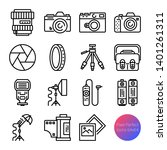 camera and equipment outline... | Shutterstock .eps vector #1401261311