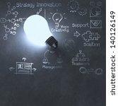 light bulb 3d on business... | Shutterstock . vector #140126149