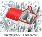 red thumb up on alphabet... | Shutterstock . vector #140126401
