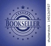 bookseller badge with denim... | Shutterstock .eps vector #1401265937