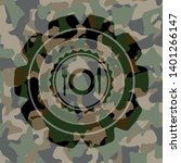 restaurant icon on camouflage... | Shutterstock .eps vector #1401266147