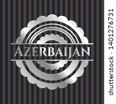 azerbaijan silvery badge or... | Shutterstock .eps vector #1401276731