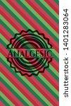 analgesic christmas style badge....   Shutterstock .eps vector #1401283064