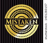 mistaken gold badge. vector... | Shutterstock .eps vector #1401283157