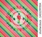 deadlift icon inside christmas...   Shutterstock .eps vector #1401299504