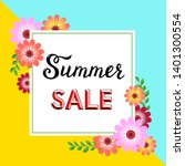 summer sale flyer template with ... | Shutterstock .eps vector #1401300554