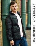 young man standing in urban... | Shutterstock . vector #1401301817