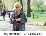 young urban woman with modern... | Shutterstock . vector #1401301964