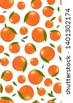 seamless pattern orange fruits... | Shutterstock .eps vector #1401302174