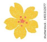 flower  cherry blossom  stamp... | Shutterstock .eps vector #1401312077