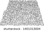 crowd of people on stadium... | Shutterstock .eps vector #1401313004