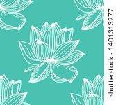 lotus flower seamless pattern... | Shutterstock .eps vector #1401313277