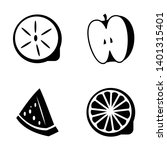 black and white fruit shape | Shutterstock .eps vector #1401315401