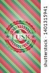 tusk christmas style emblem....   Shutterstock .eps vector #1401315941