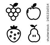 fruits line art  icon shape | Shutterstock .eps vector #1401316514