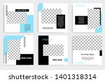 editable square abstract... | Shutterstock .eps vector #1401318314