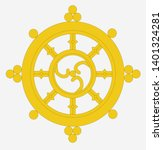 dharma wheel vector...   Shutterstock .eps vector #1401324281
