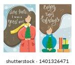 set of vector merry christmas...   Shutterstock .eps vector #1401326471