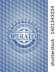 operator blue hexagon badge....   Shutterstock .eps vector #1401343334